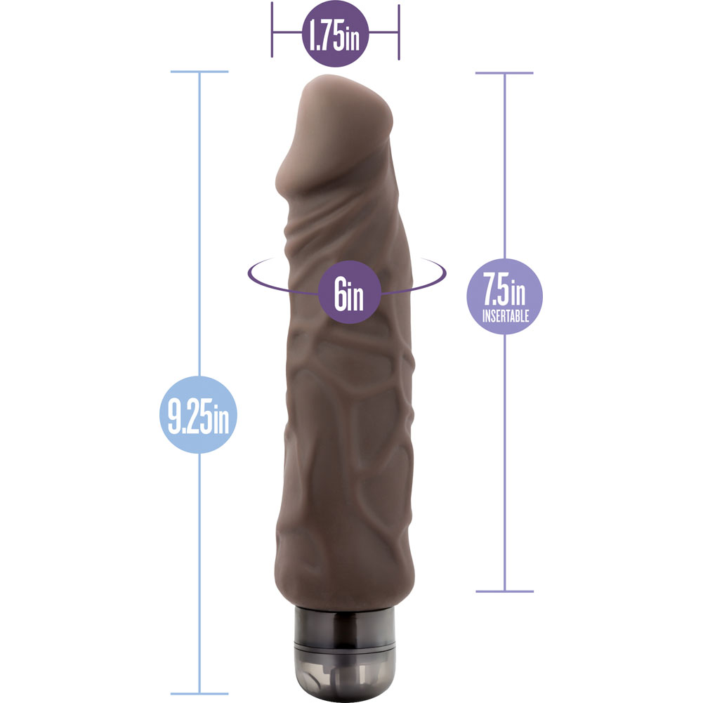 "Blush Au Naturel Home Wrecker Vibrator 9.25"" Brown - View #1"