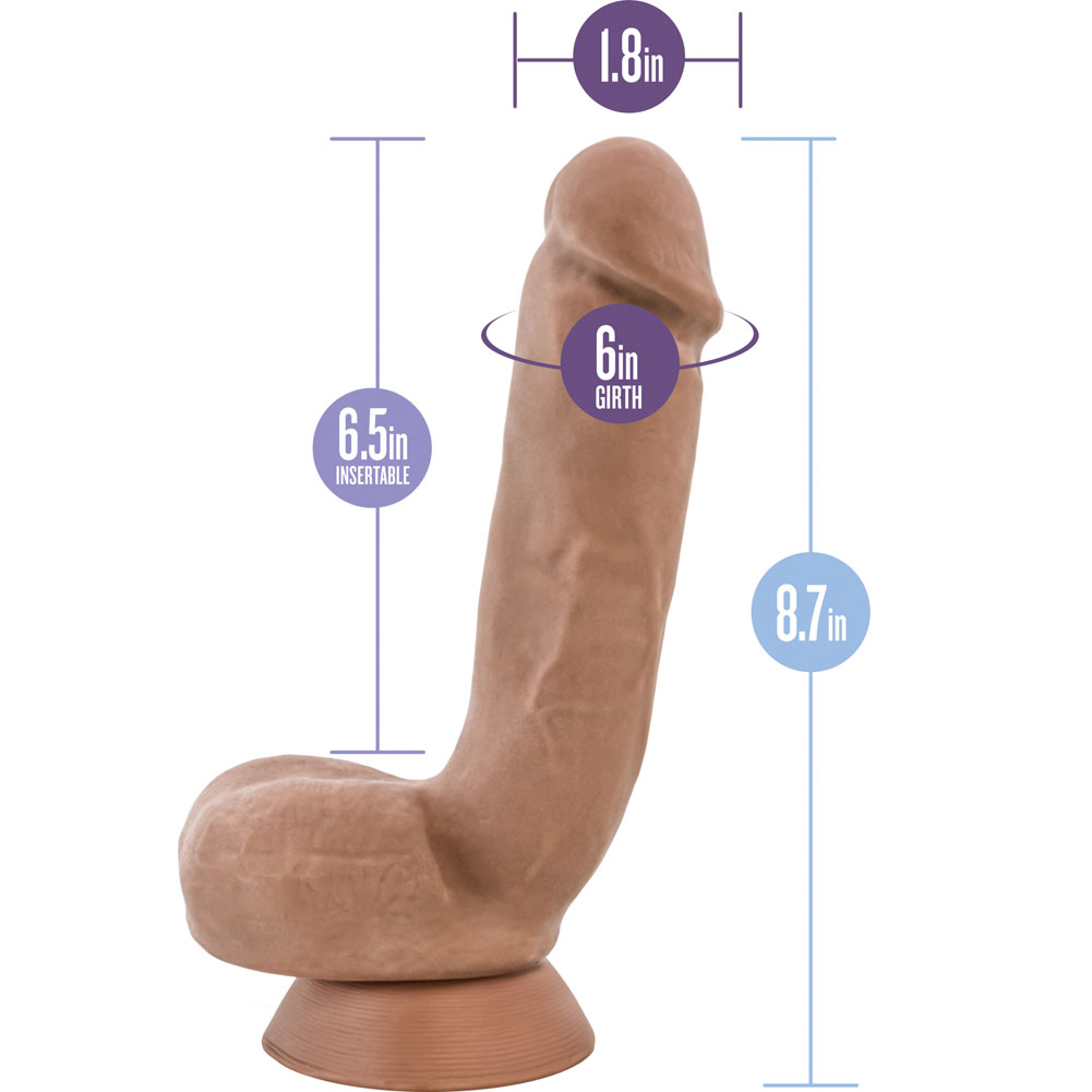 "Blush Au Naturel Macho Dual Density Dildo 8.75"" Latin - View #1"