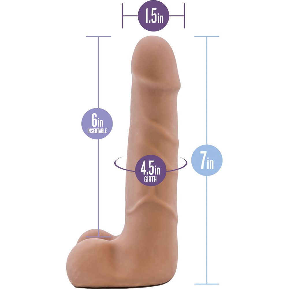 "Blush Au Naturel Suave Dual Density Dildo 7"" Latin - View #1"