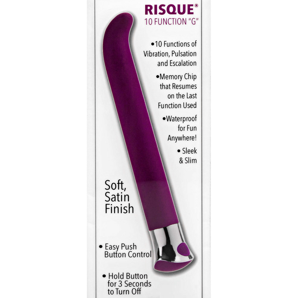 "California Exotics 10 Function Risque G Personal Vibrator 5.5"" Purple - View #1"