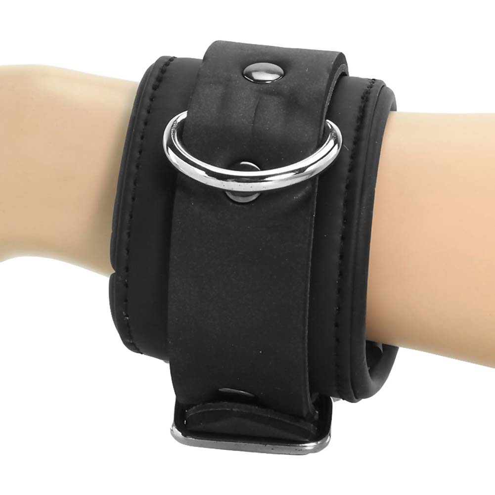 Master Series Serve Neoprene Buckle Cuffs Black - View #1