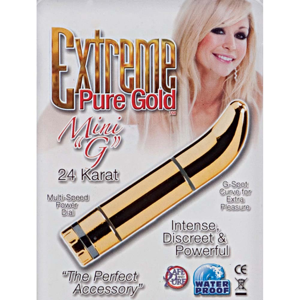 Extreme Pure Gold Mini G Vibrator Gold - View #1