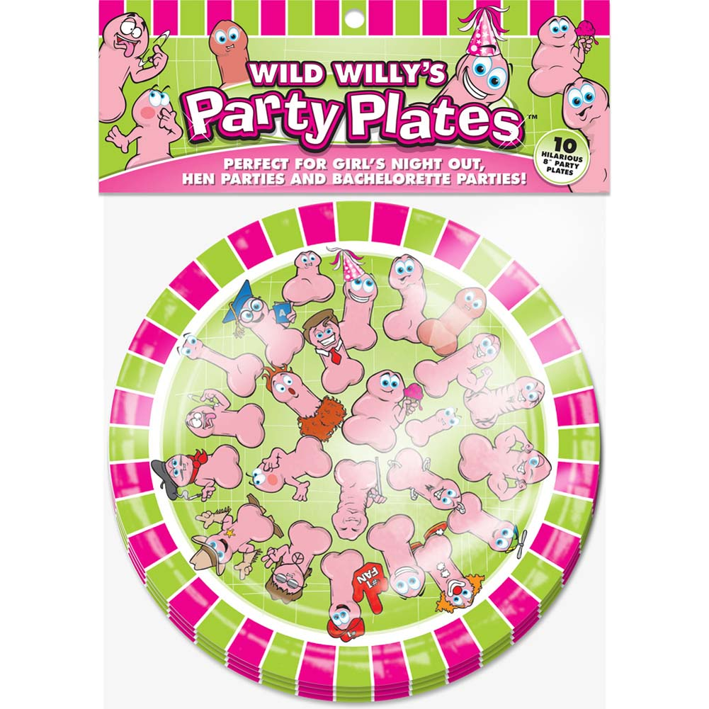 Wild WillyS Party Plates - View #1