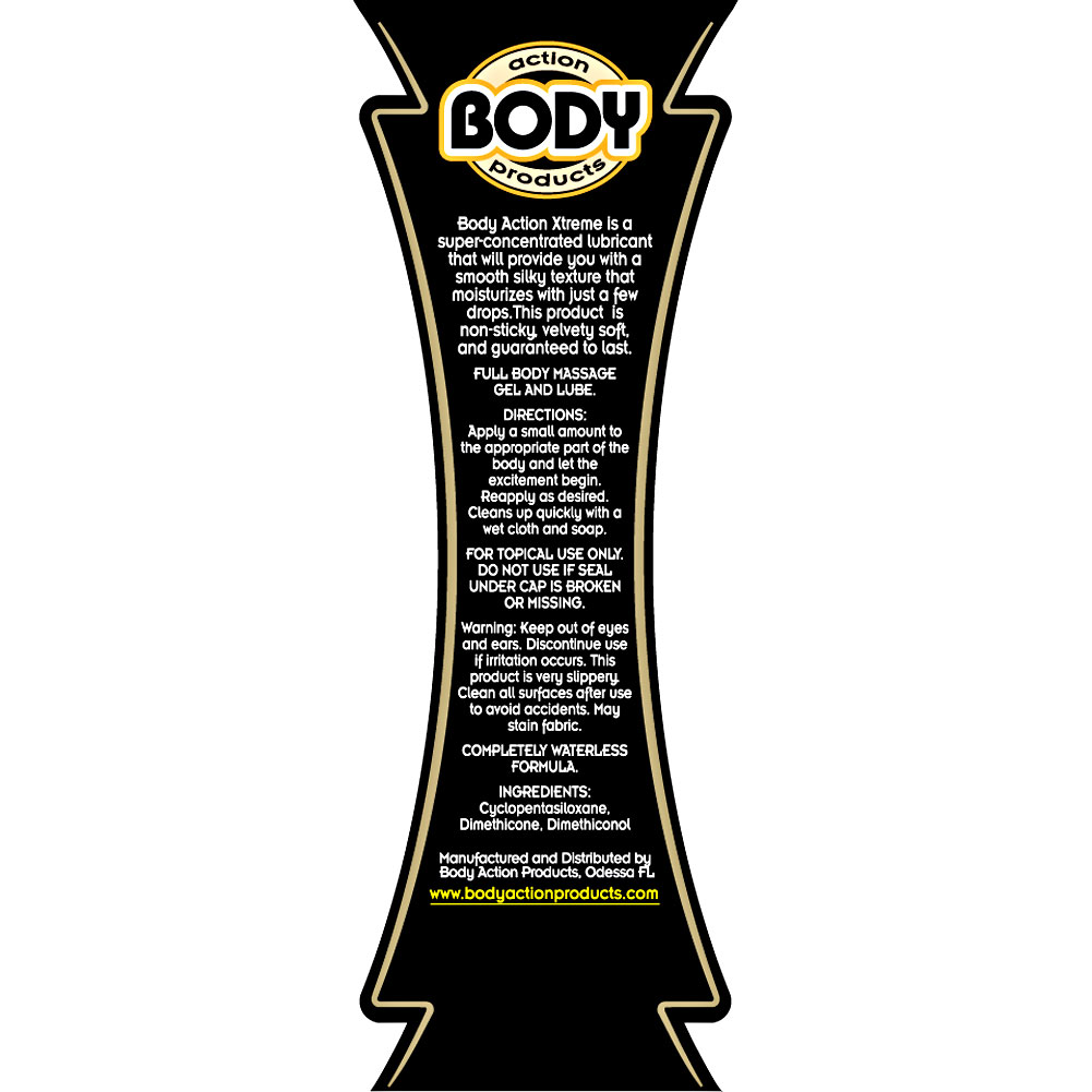Body Action Xtreme Glide Personal Silicone Lubricant 2.3 Fl.Oz - View #1