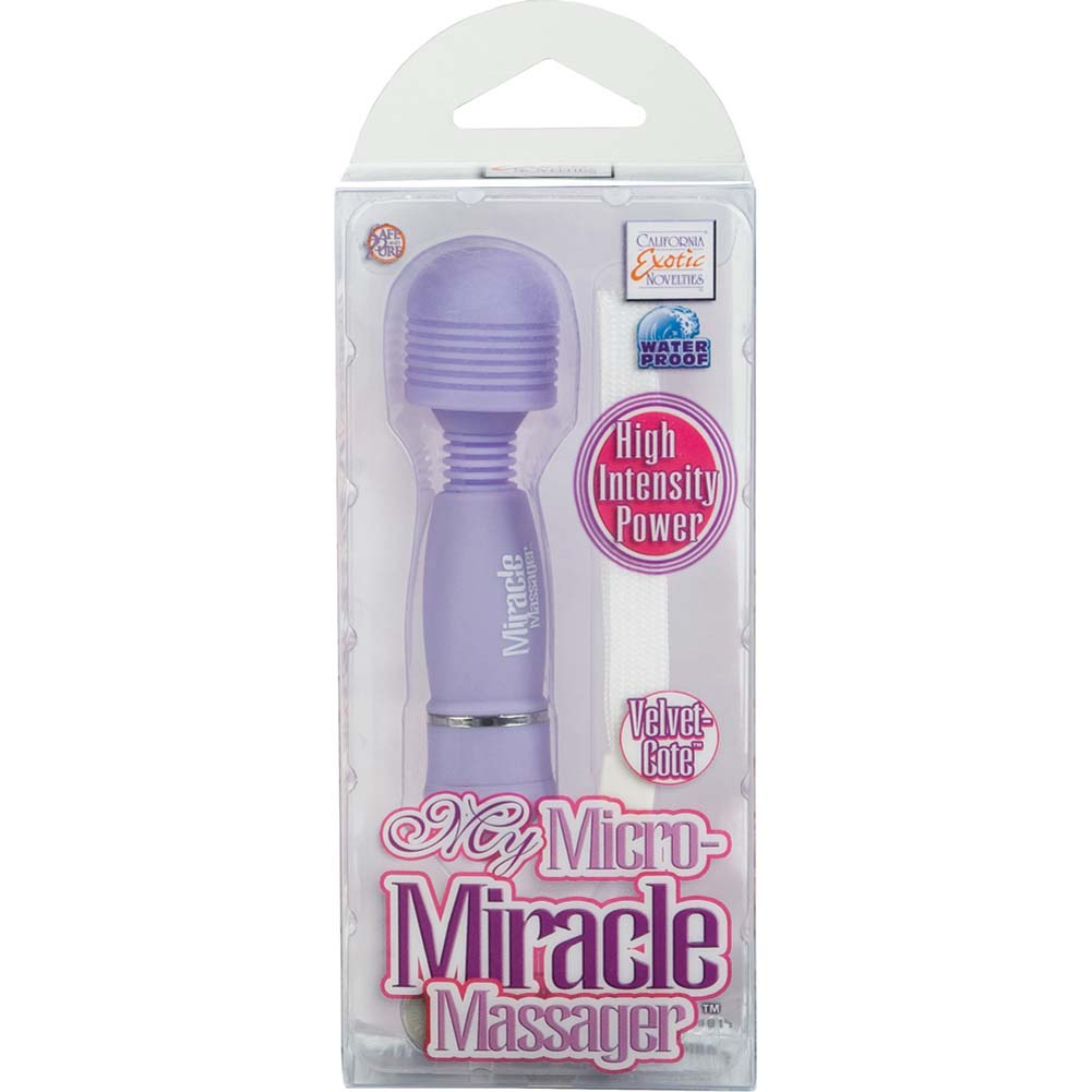 "California Exotics My Micro Miracle Vibrating Personal Massager 4.25"" Purple - View #4"