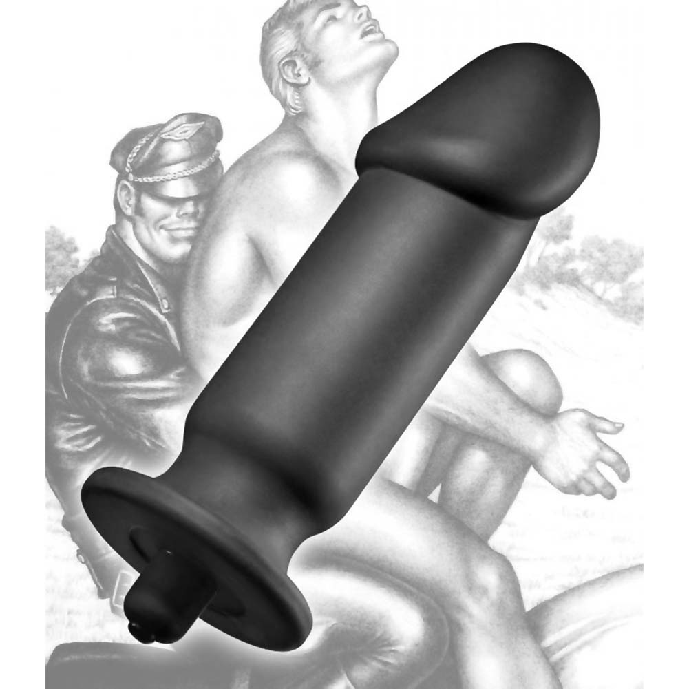 "Tom of Finland XL Silicone Vibrating Anal Plug 7.75"" Black - View #3"