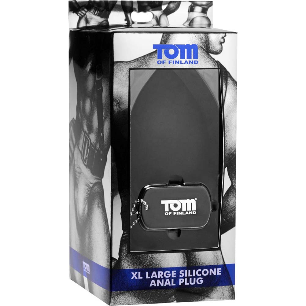 "Tom of Finland Extra Large Silicone Anal Plug 5.5"" Black - View #1"