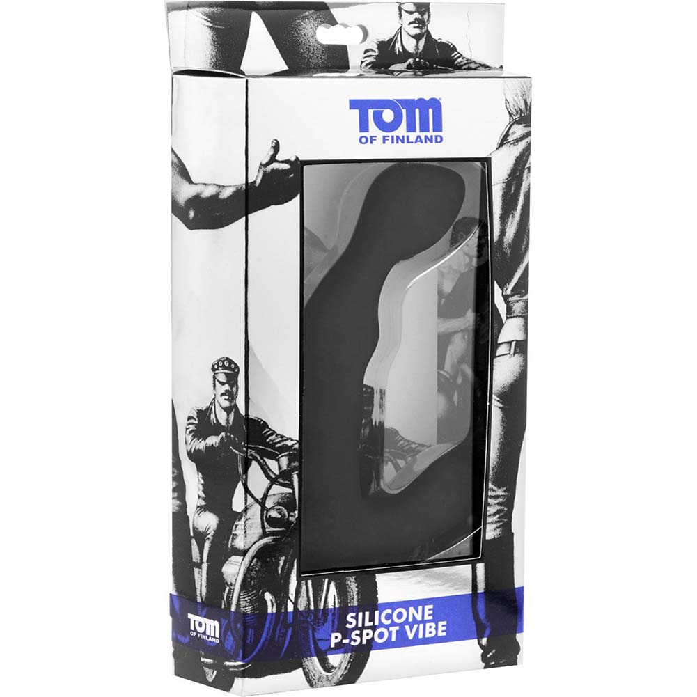 "Tom of Finland Silicone P-Spot Vibrator 6"" Black - View #1"