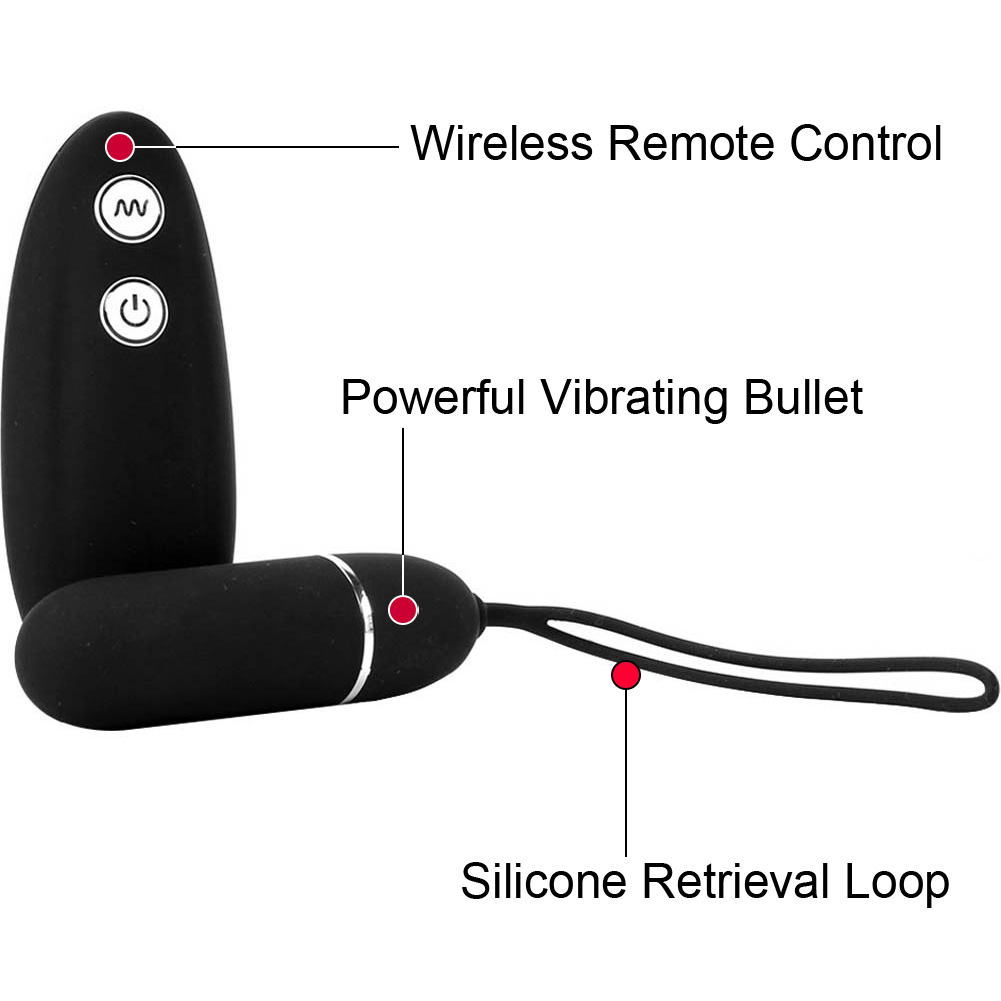Hustler Wireless Remote Control Vibrating Panties Medium/Large Black - View #1