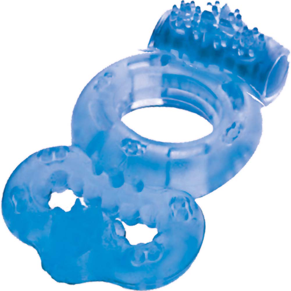 Macho Vibrating Double Ring Blue - View #2