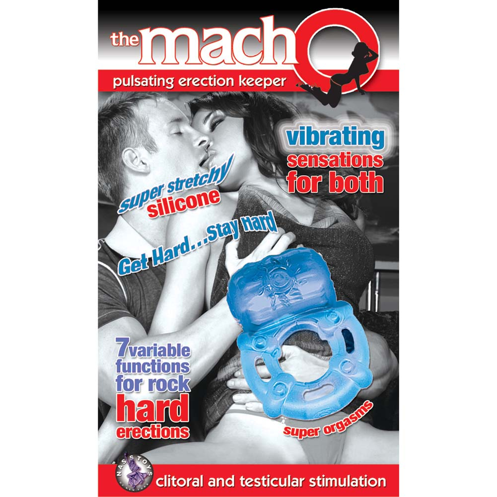 Nasstoys Macho Pulsating Erection Keeper 7 Function Vibro Cockring Blue - View #1
