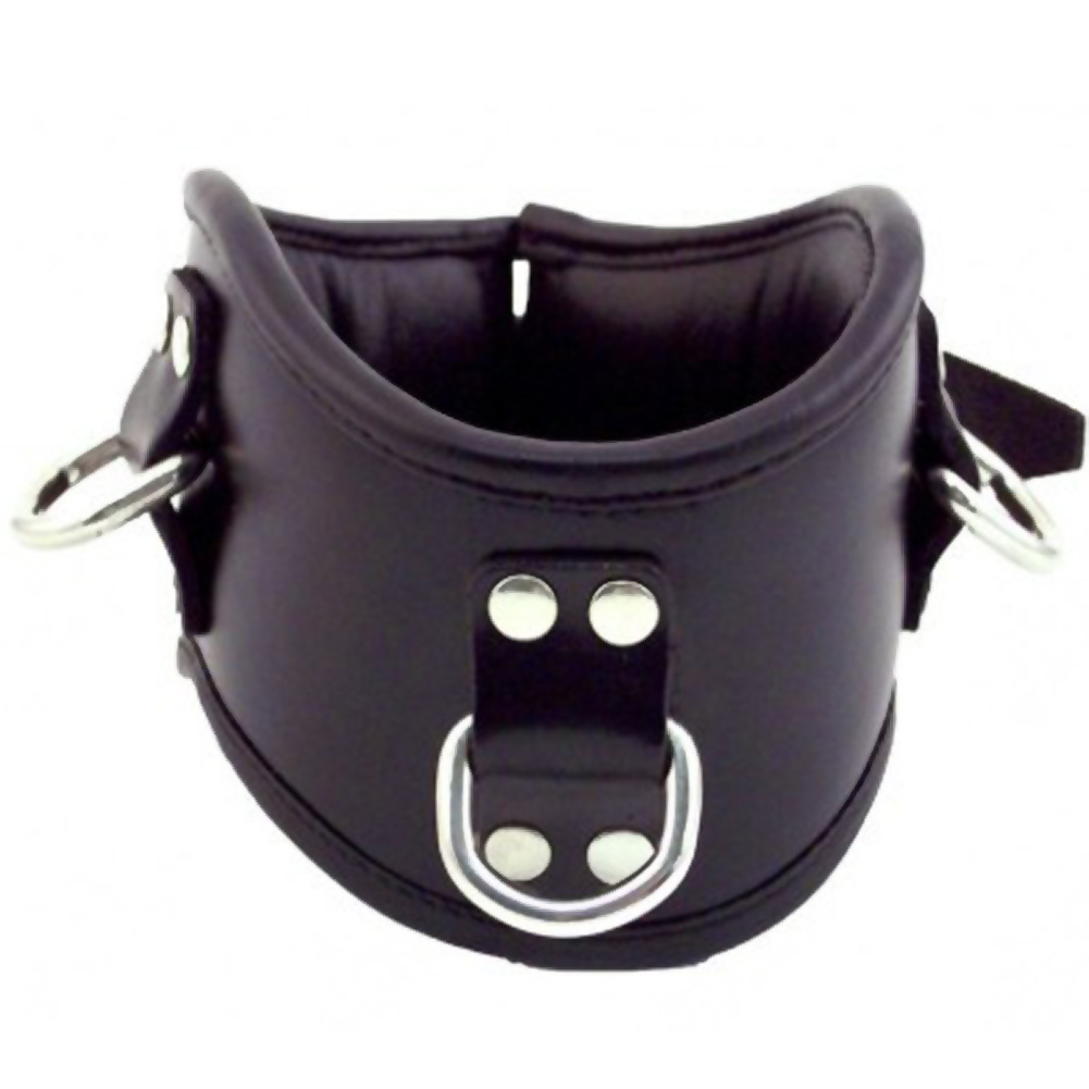 Rouge Posture Leather Collar Black - View #2