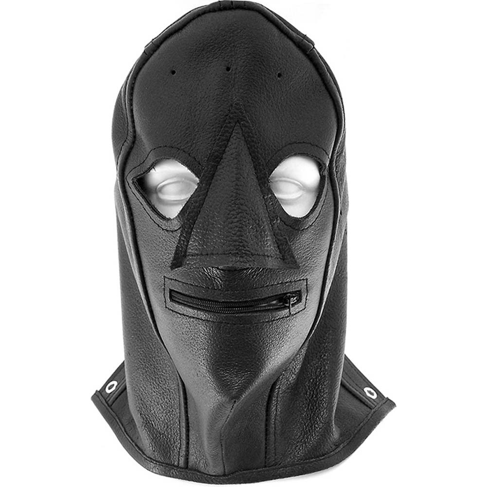 Rouge Leather Zip Mask Black - View #2