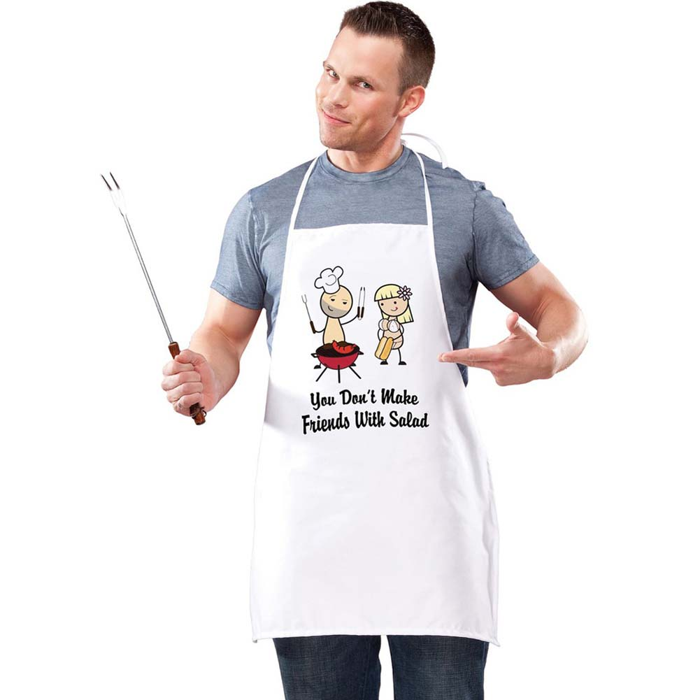 Nutz Apron - You Don T Make Friends with Salad - View #2