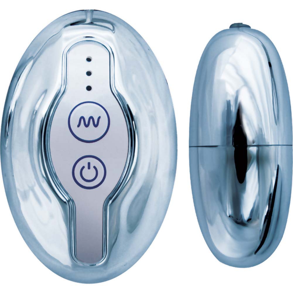 "Nen-Wa Vibrating Super Eggs 2"" Silver - View #2"
