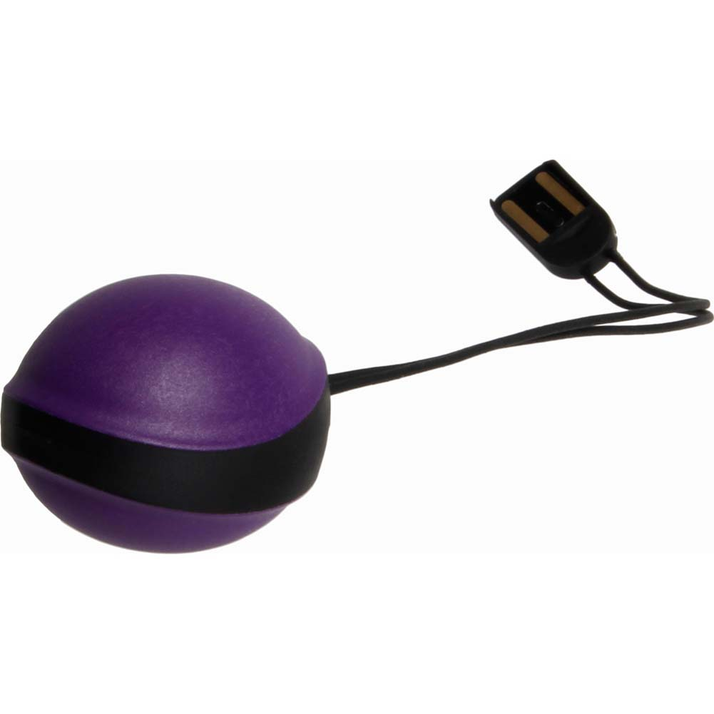 Vibratissimo Uno Smart Phone App Controlled USB Rechargeable Kegel Exerciser Purple - View #2