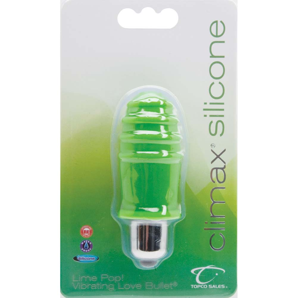 "Climax Silicone Vibrating Bullet 3"" Lime Pop - View #1"