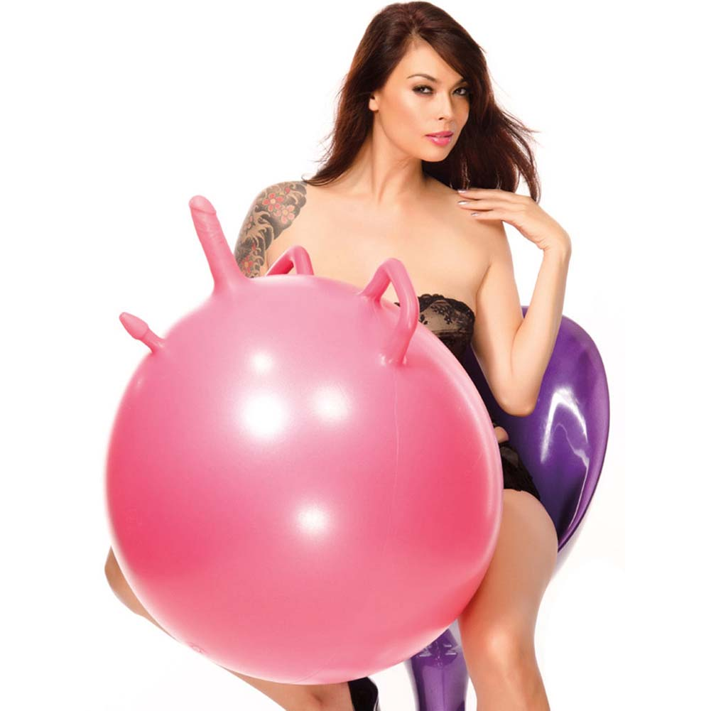 Pink Diamond Magic Ball Single Dildo Pink - View #1