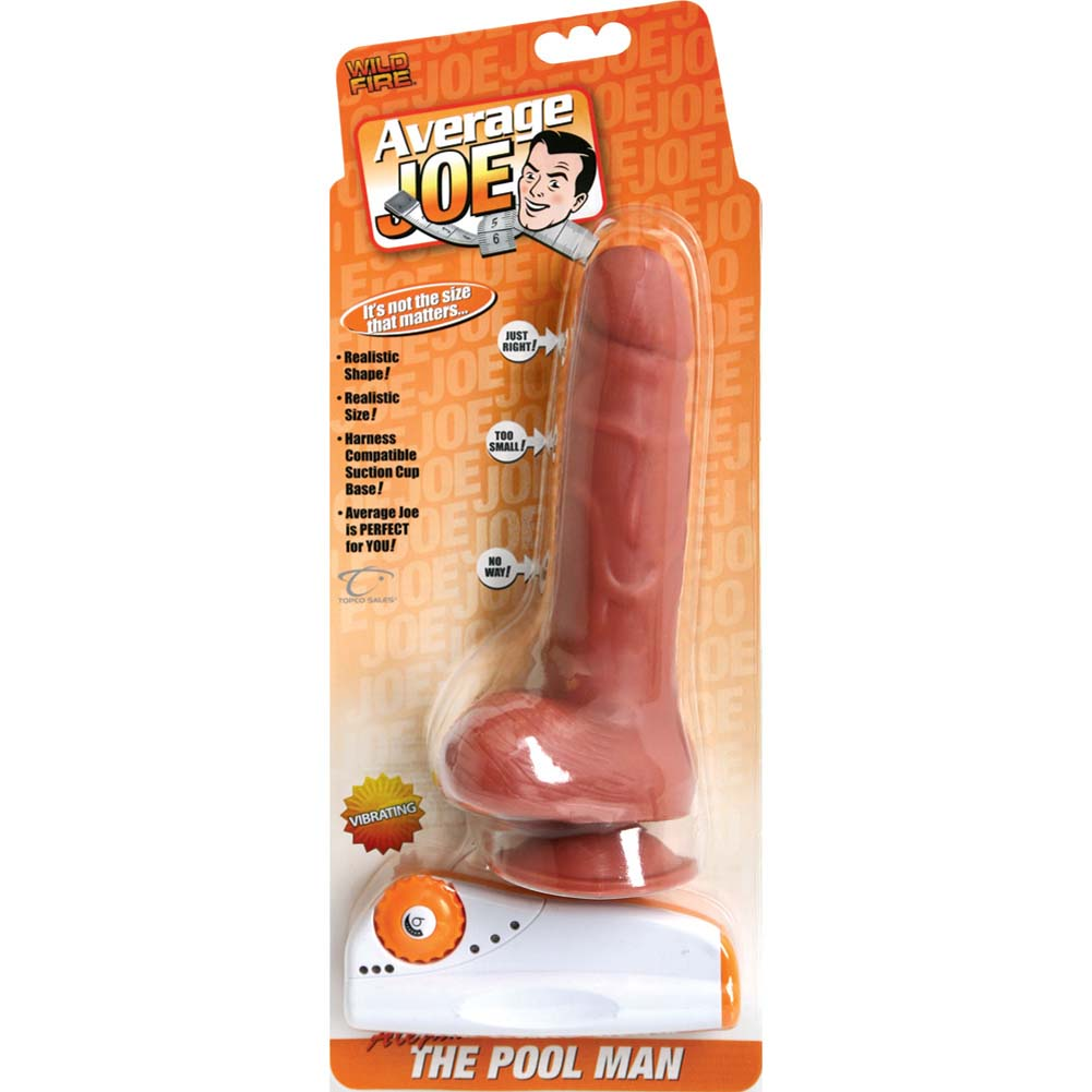 "Average Joe the Pool Man Alejandro Vibrating Dildo with Suction 8"" Natural - View #2"
