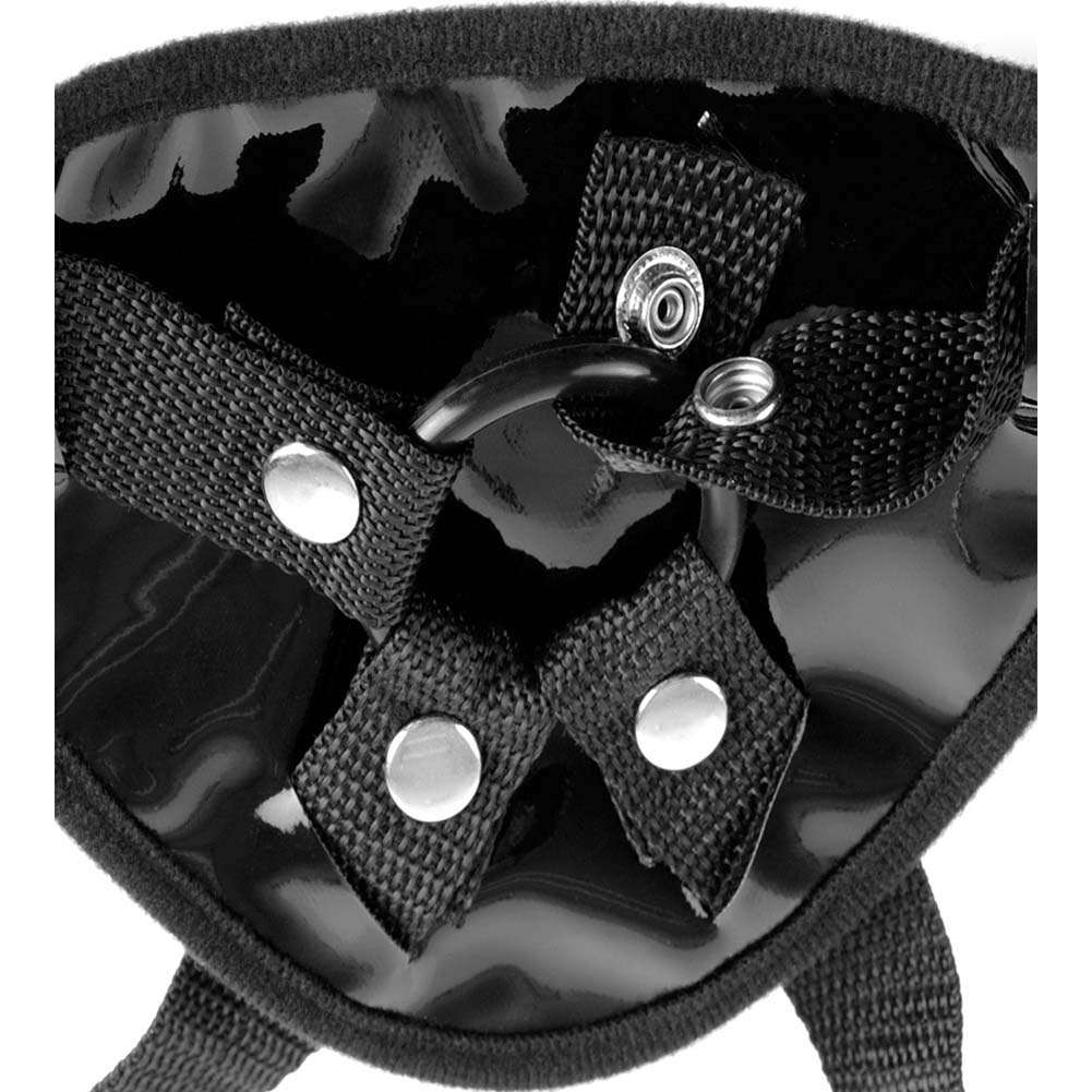 Fetish Fantasy Garter Belt Strap-On Harness Black - View #3