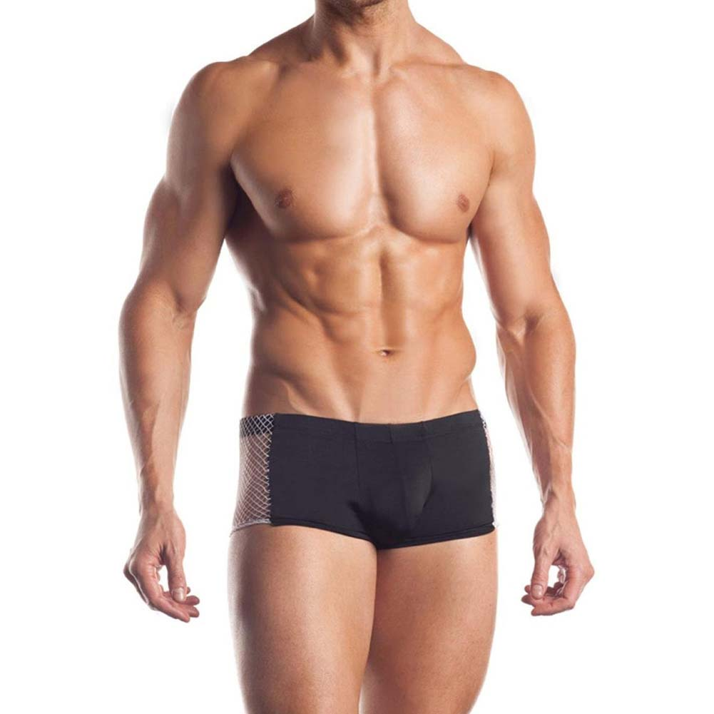 Excite Extreme Series Fishnet Side Panel Brief One Size Black - View #1