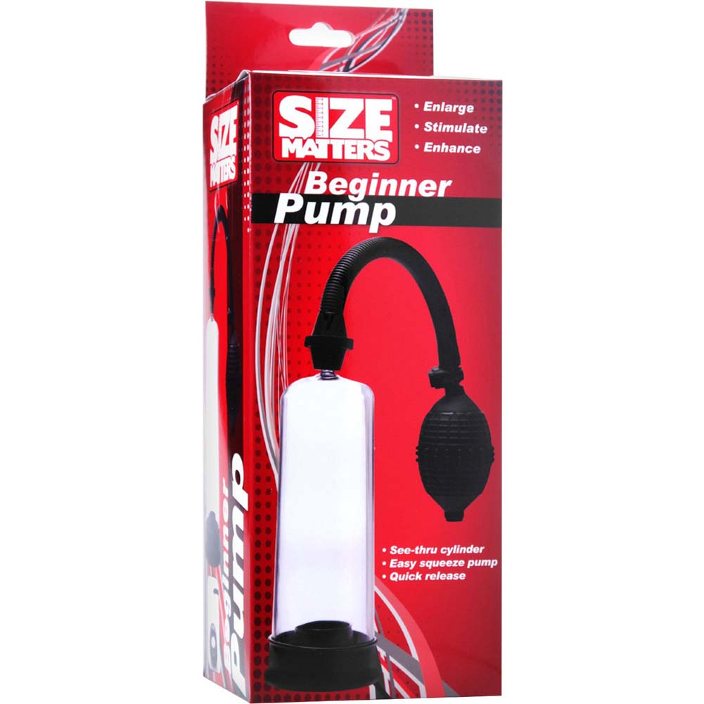 Size Matters Beginner Pump for Men Black - View #1