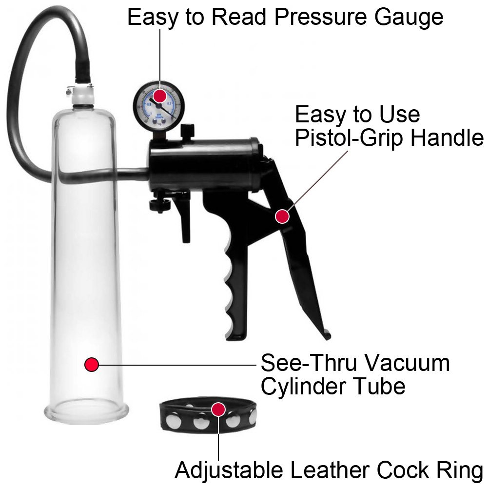 Size Matters Premium Penis Pumping Kit with Adjustable Penis Ring Intermediate - View #1