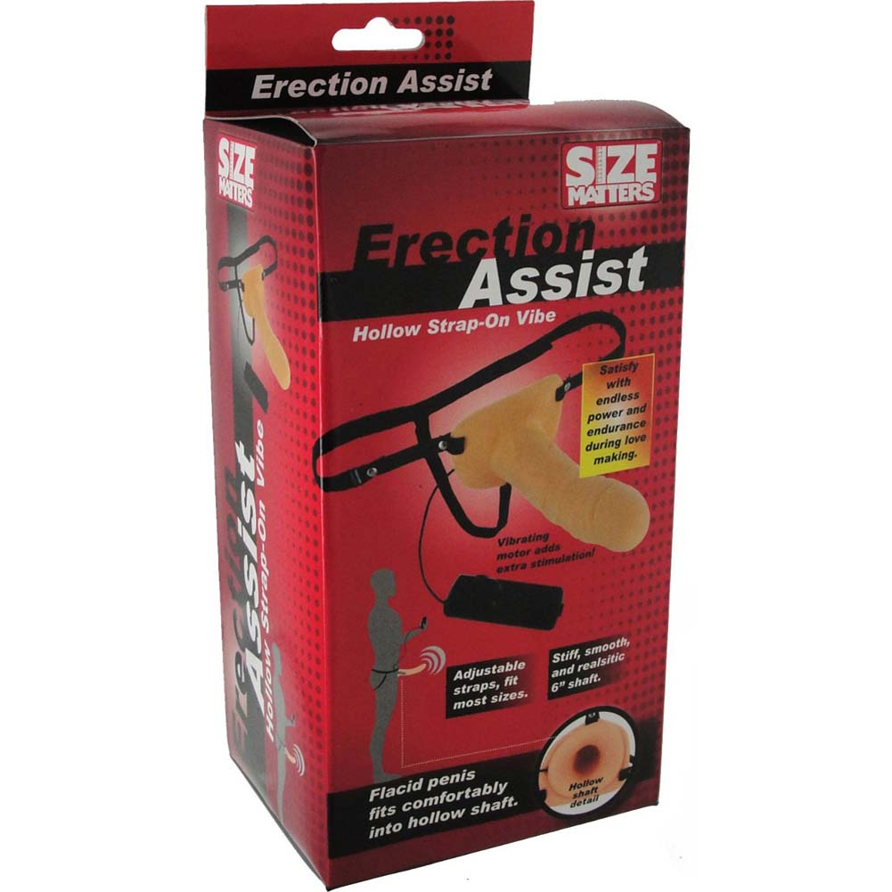Size Matters Erection Assist Hollow Strap-On Vibrator - View #4