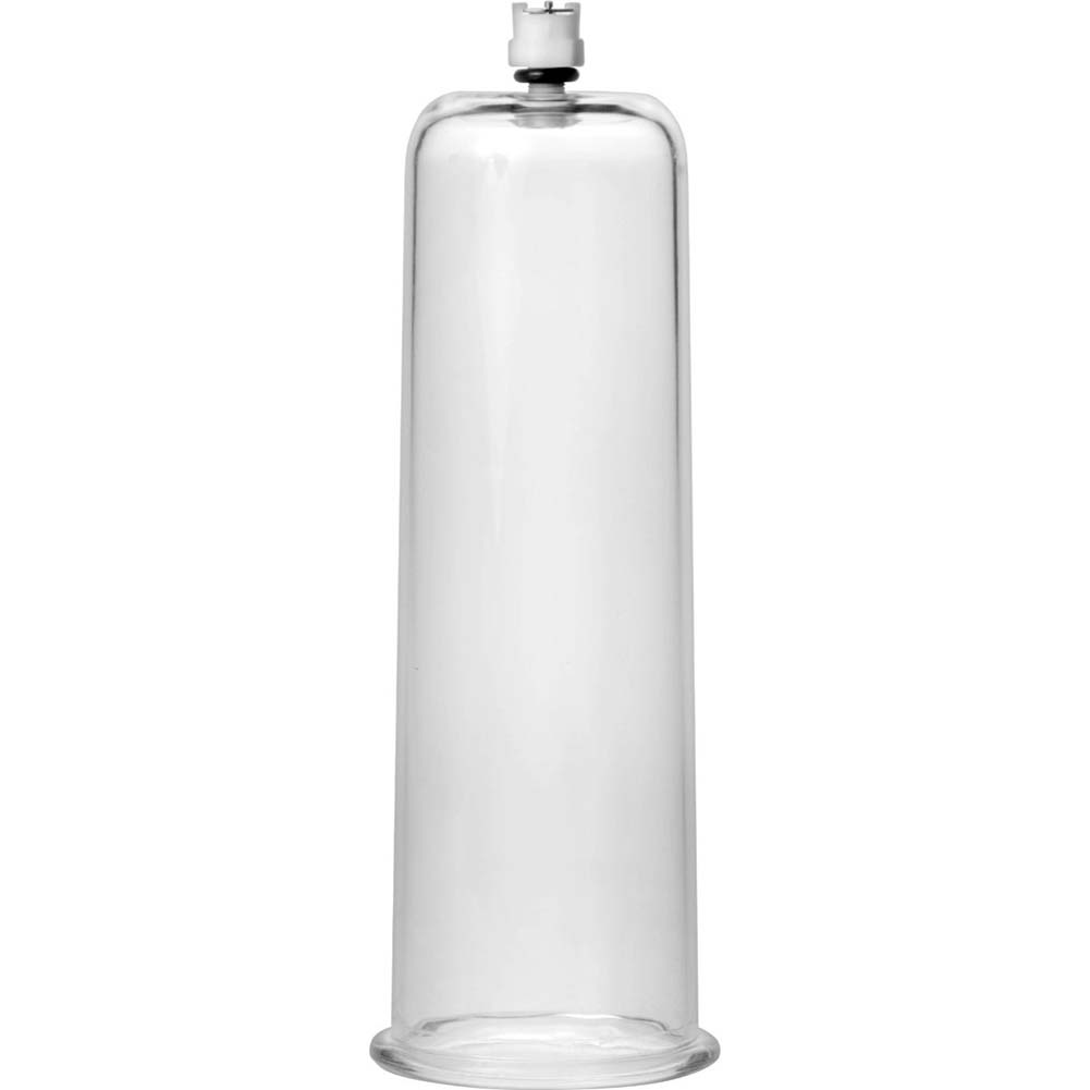 "Size Matters Cock and Ball Cylinder 2.75"" Diameter Clear - View #2"