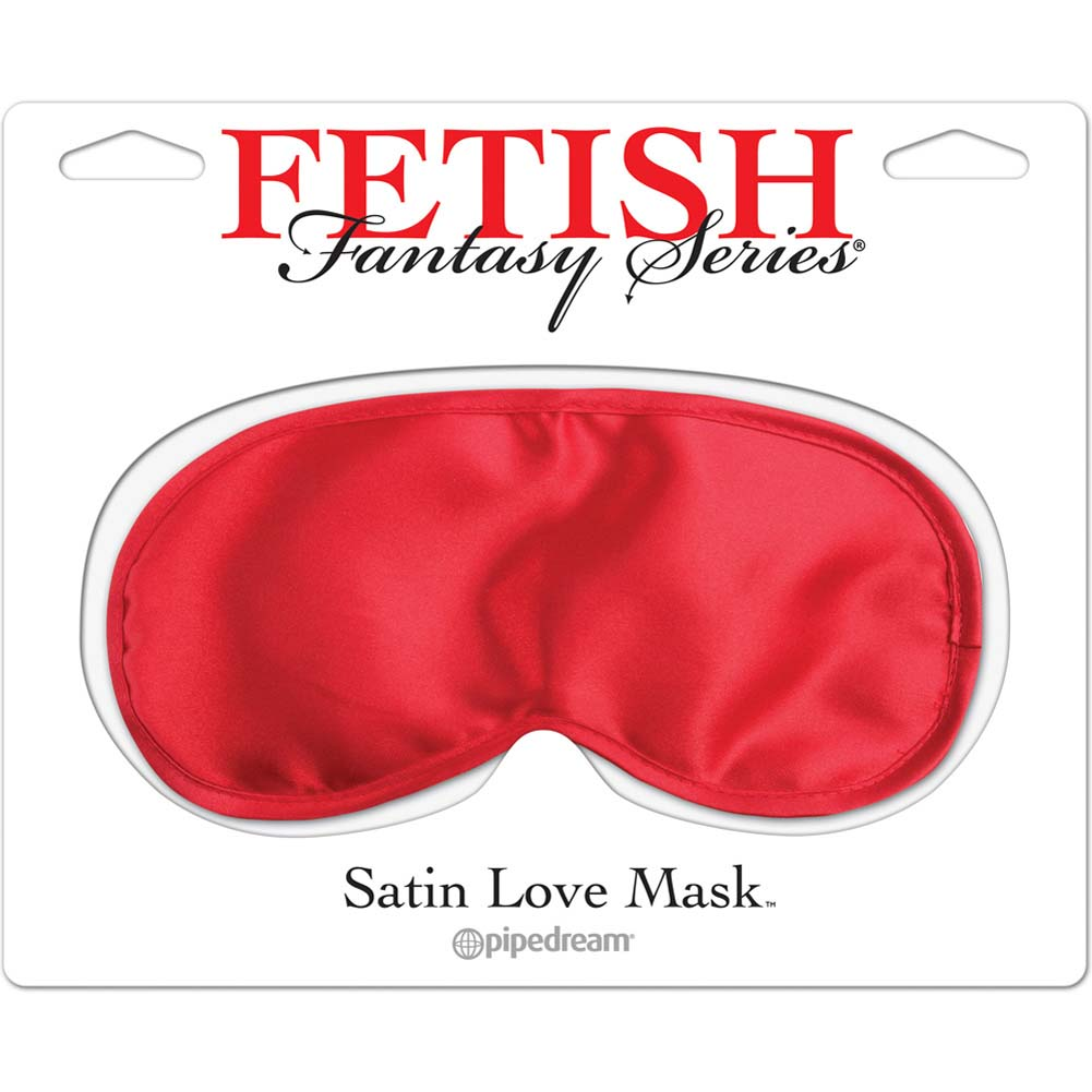 Fetish Fantasy Satin Love Mask Red - View #1