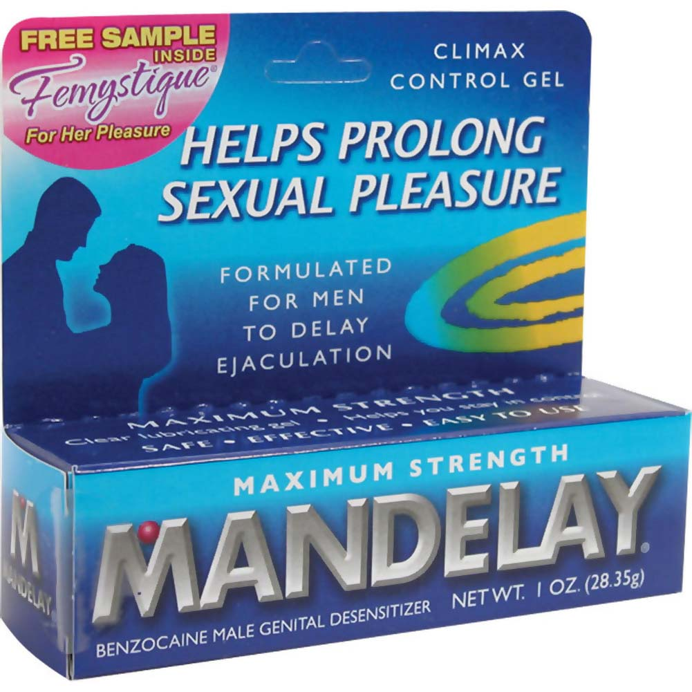 Mandelay Male Genital Desensitizer Maximum Strength Climax Control Gel 1 Oz - View #1