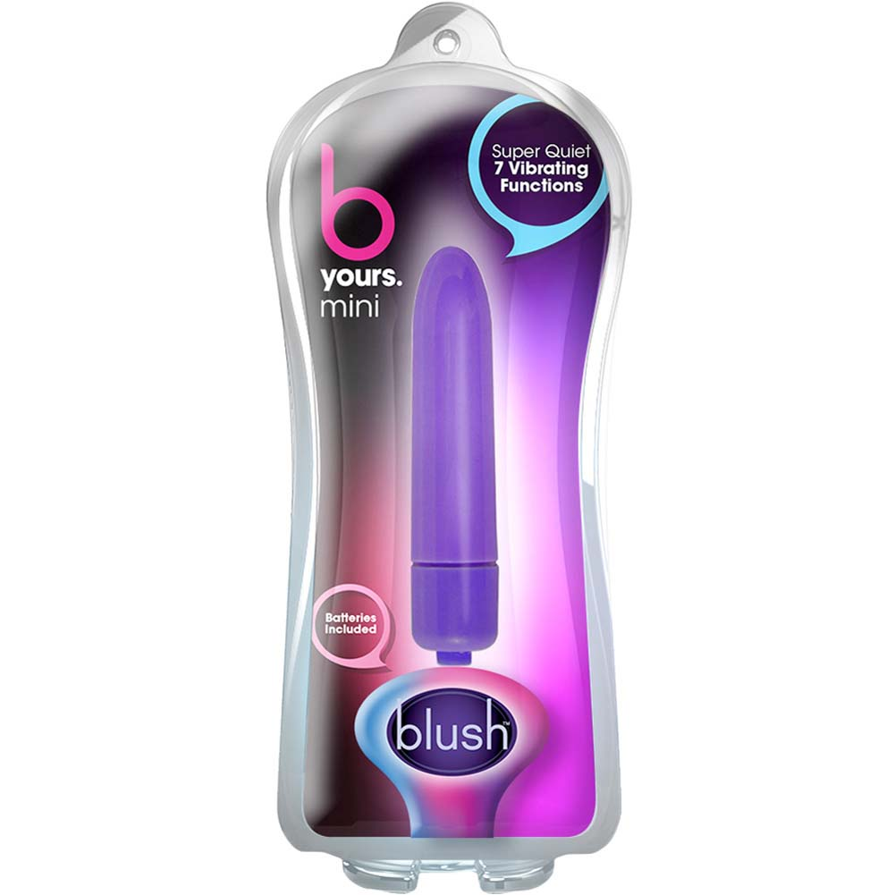 "Blush B Yours Vibrating Mini Bullet 3"" Purple - View #1"