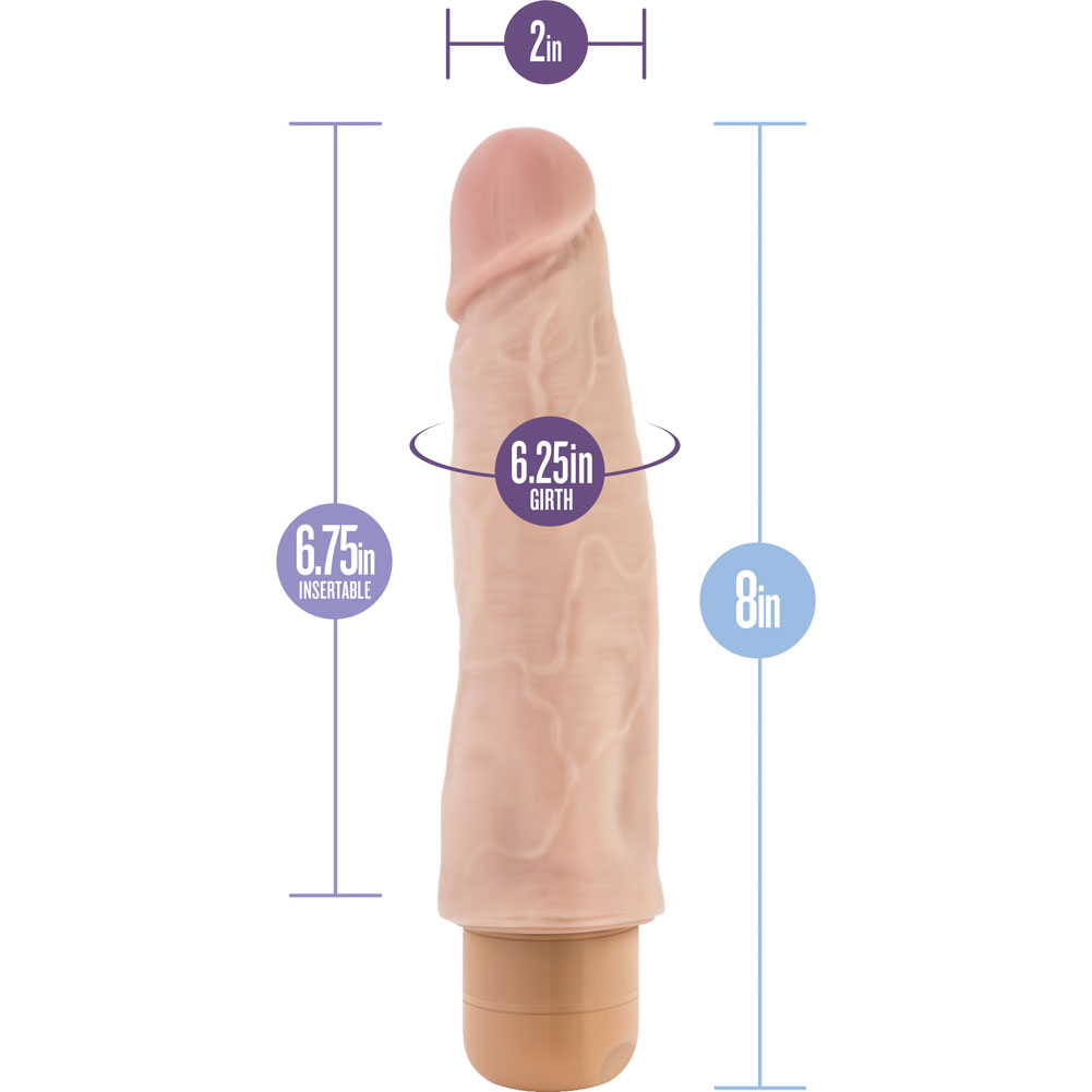 "Blush B Yours No. 14 Vibrator 8"" Natural Flesh - View #1"