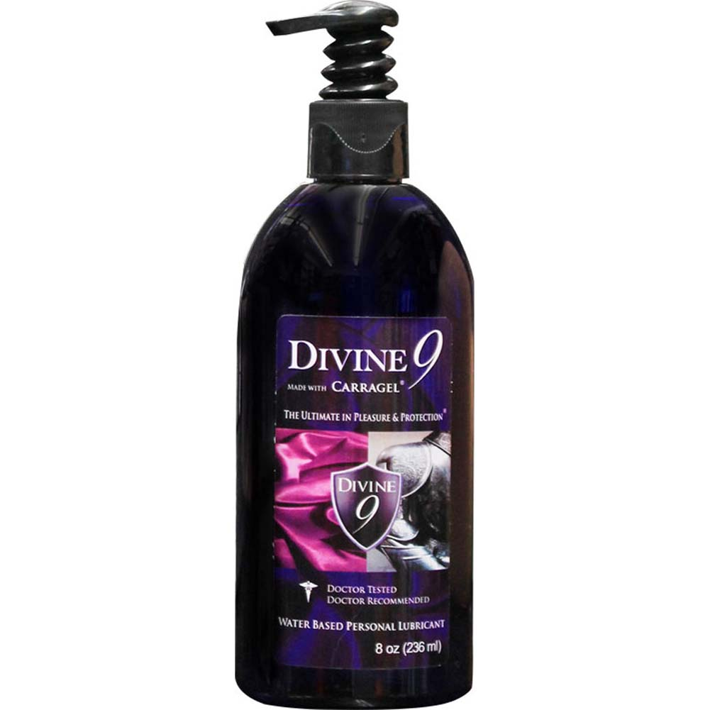 Divine 9 Waterbased Personal Lubricant with Carragel HPV Inhibitor 8 Fl.Oz. - View #1