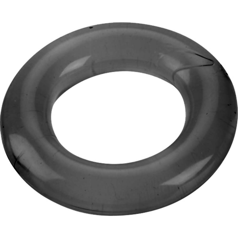 Spartacus Relaxed Fit Elastomer Cock Ring Black - View #2