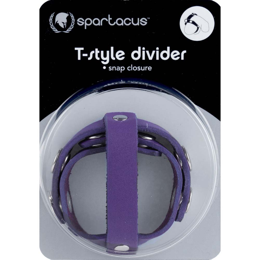 Spartacus Crave T Style Leather Ball Divider Violet - View #3