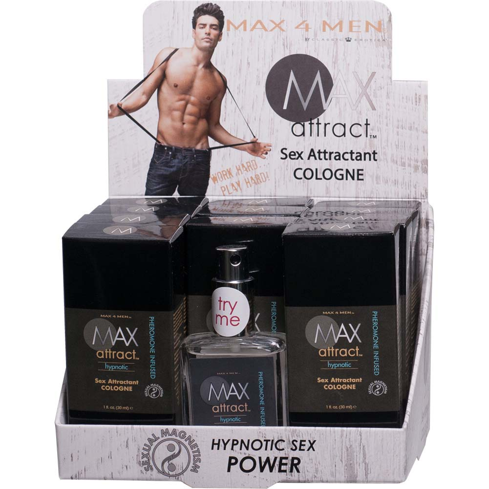 Max 4 Men Max Attract Hypnotic Cologne with Pheromones 1 Fl.Oz. 12 Pk Display - View #2