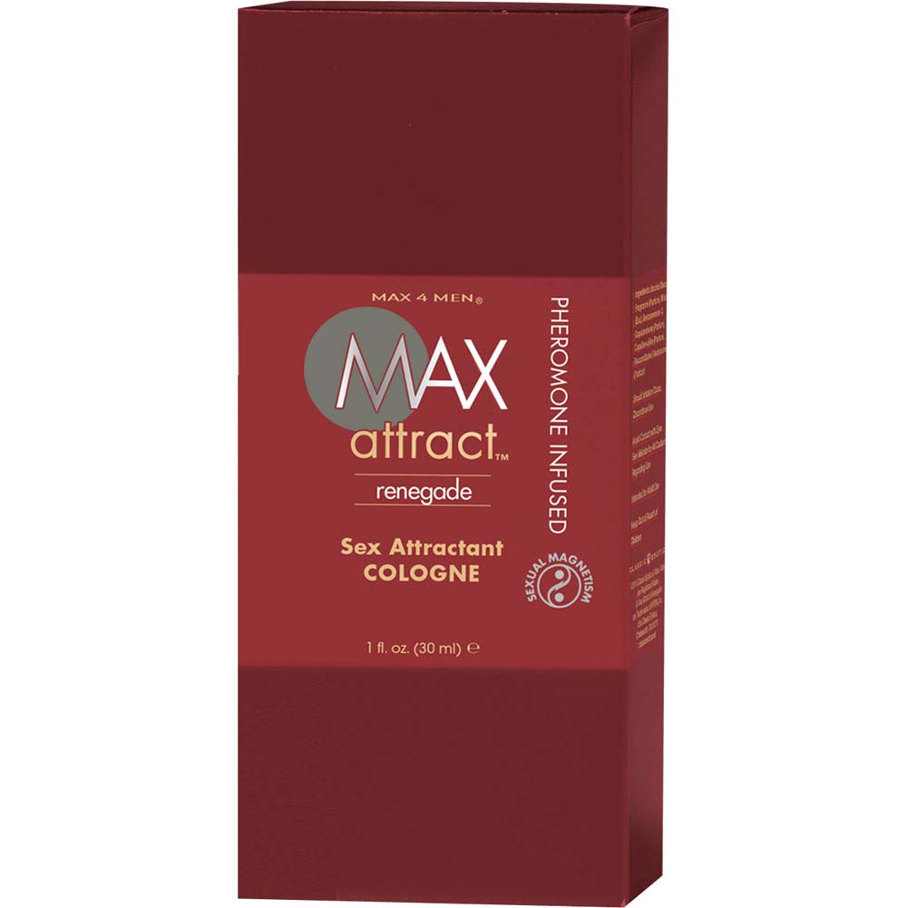 Max 4 Men Max Attract Renegade Cologne with Pheromones 1 Fl.Oz. 12 Pk Display - View #3