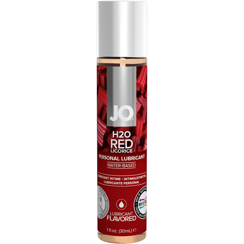 JO H2O Flavored Intimate Lubricant 1 Fl.Oz 30 mL Red Licorice - View #1