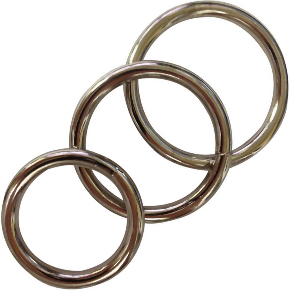Sportsheets Metal O-Rings 3 Pack Silver - View #2