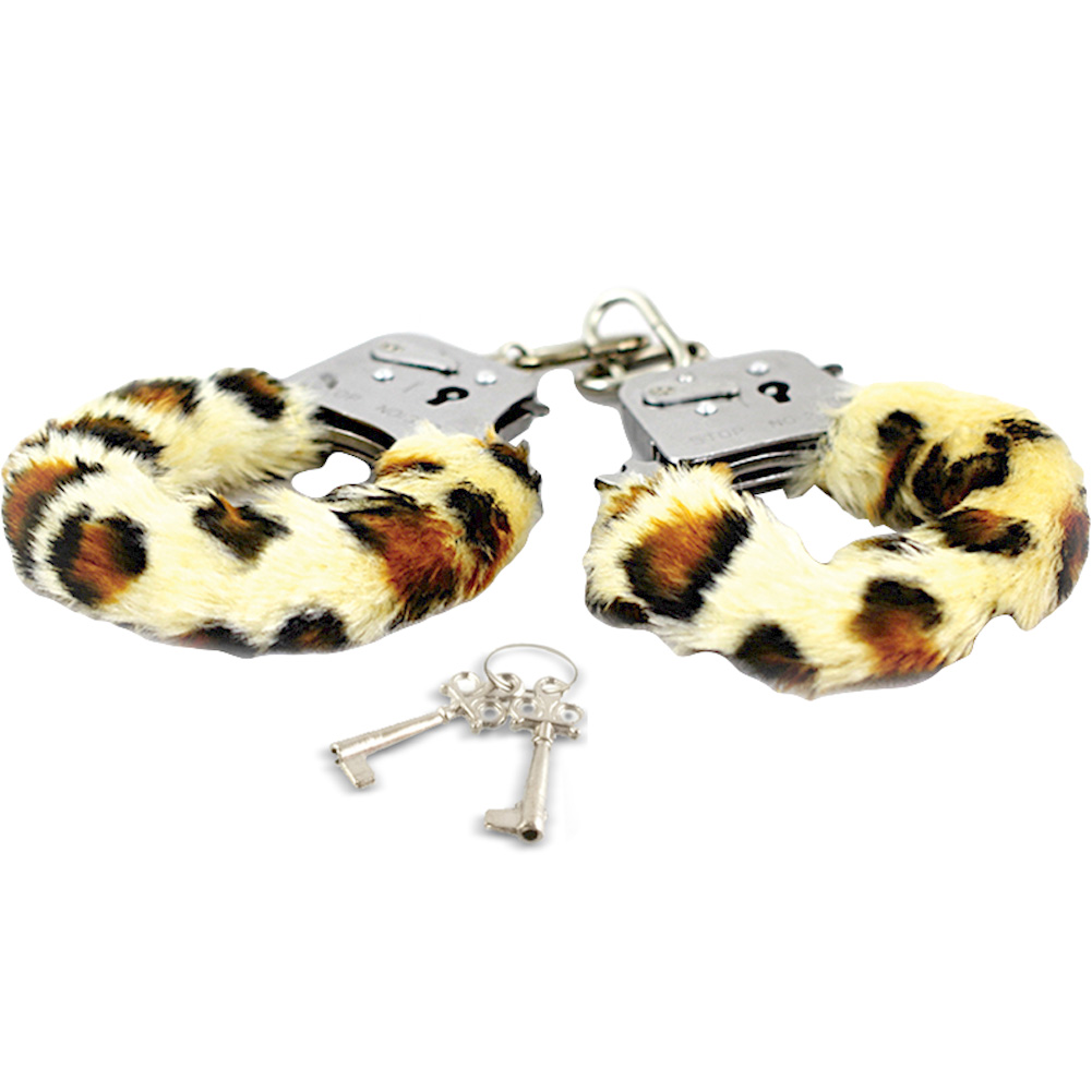 Blush Play with Me Play Time Cuffs Leopard Print Fur - View #2