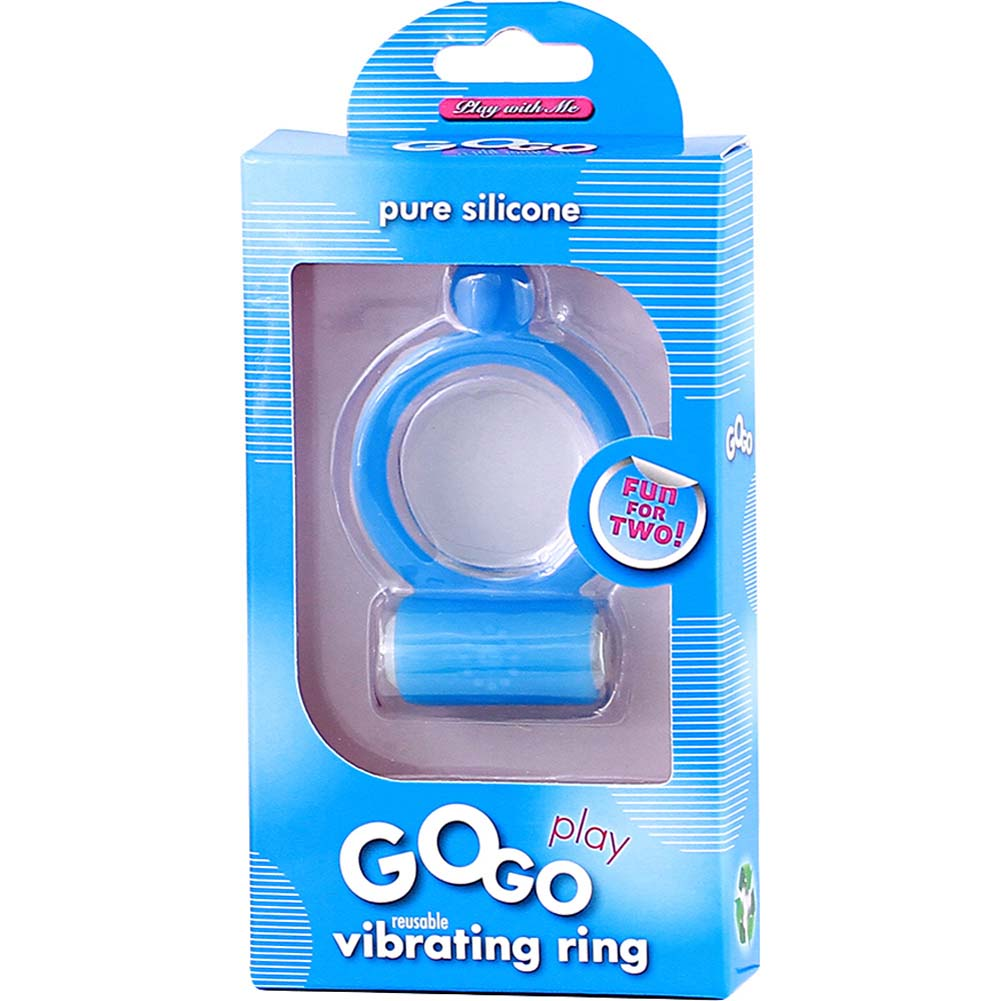 Blush GoGo Play Vibrating Ring Blue - View #1