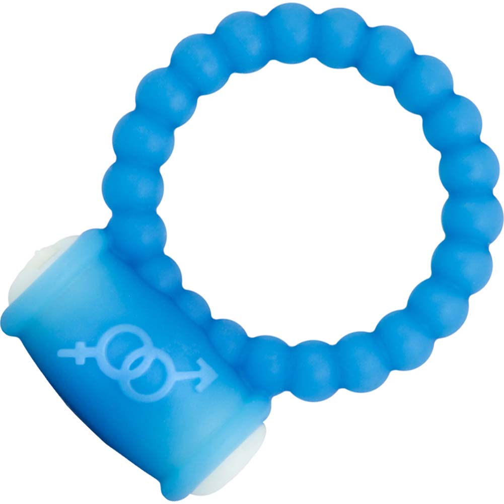 Blush GoGo Bubbles Vibrating Ring Blue - View #2