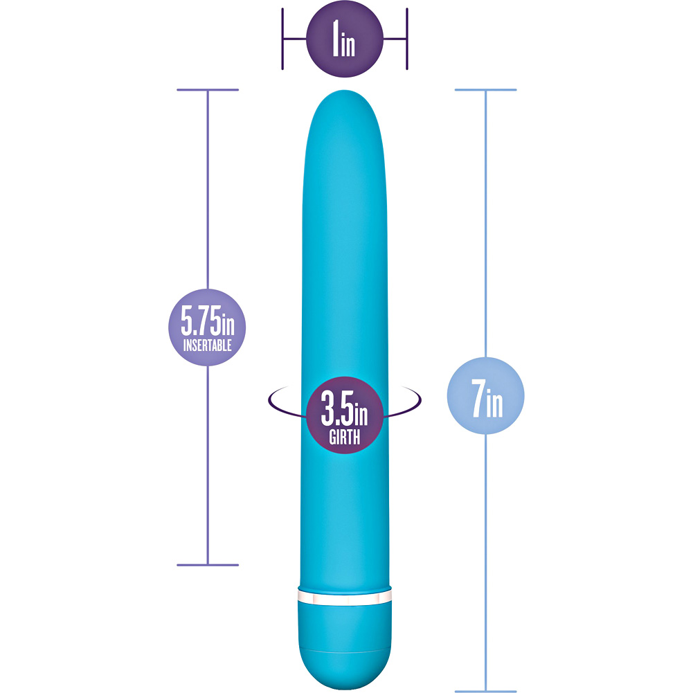 "Blush Rose Line Luxuriate Sensual Vibrator 7"" Blue - View #1"
