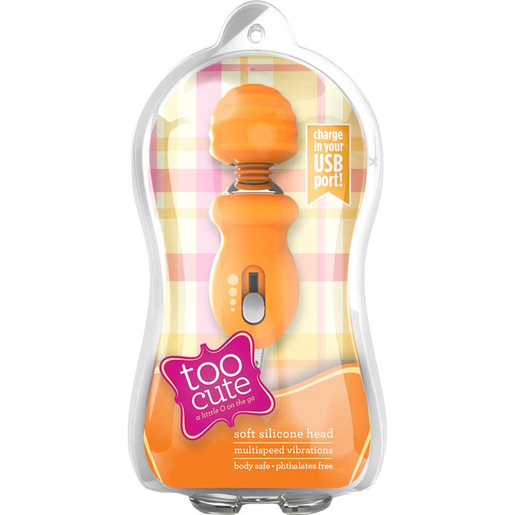 "Blush Too Cute USB Rechargeable Silicone Vibrator 3"" Tangerine - View #1"
