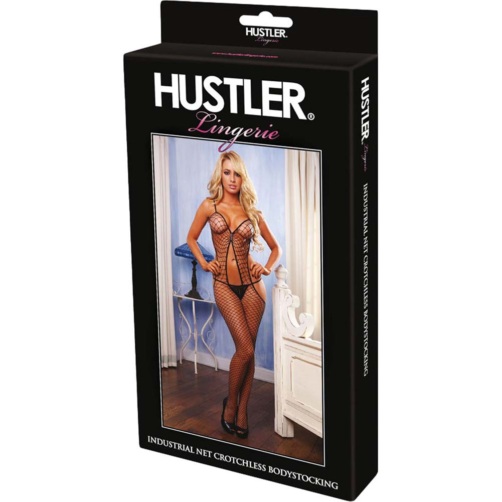 Hustler Diamond Net Bodystocking One Size Black - View #4