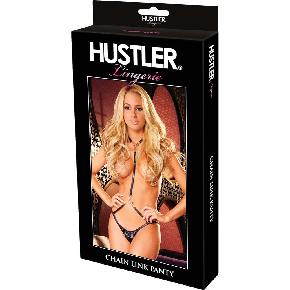 Hustler Chain Link Black Small/Medium Panty - View #4