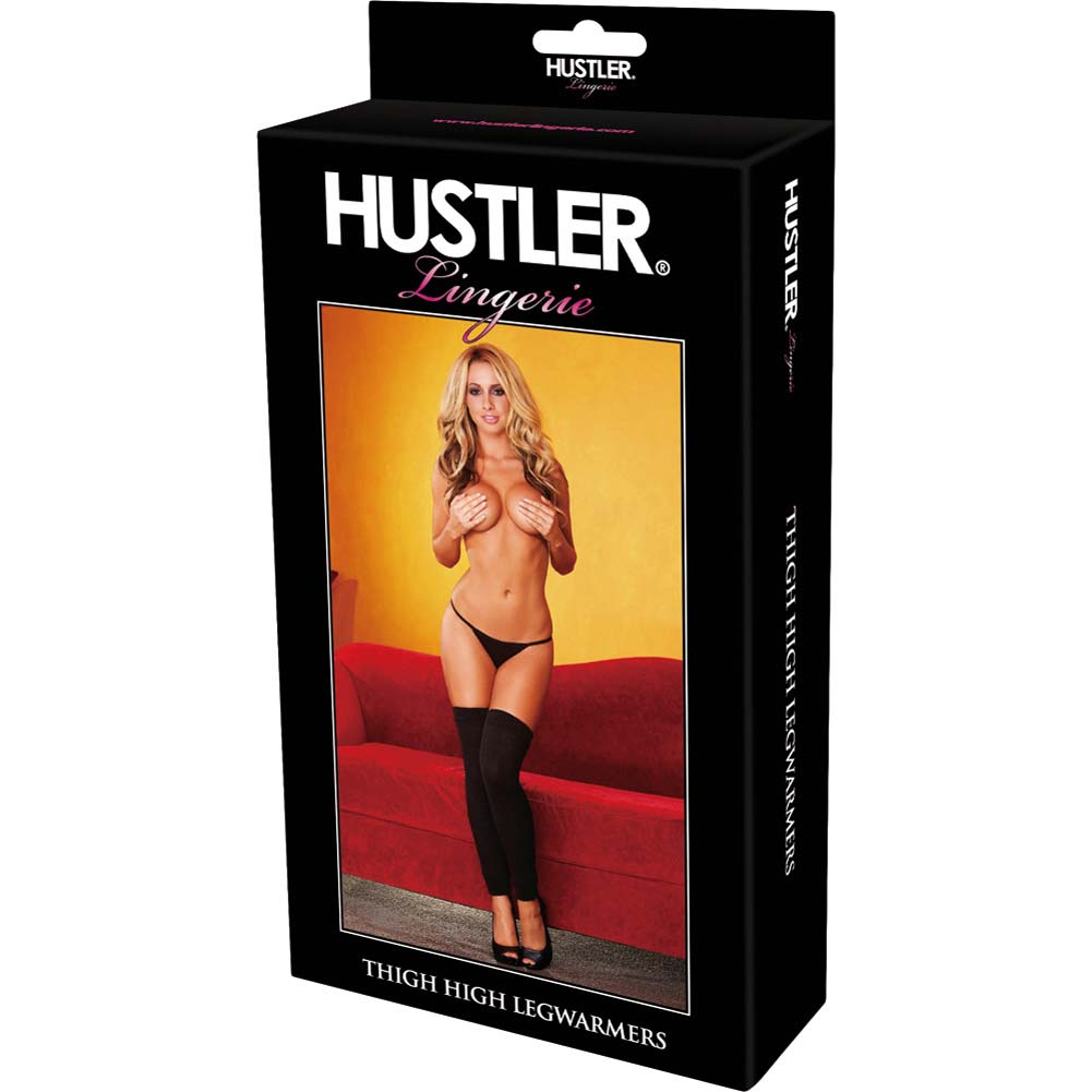 Hustler Leg Warmer Thigh High One Size Black - View #3