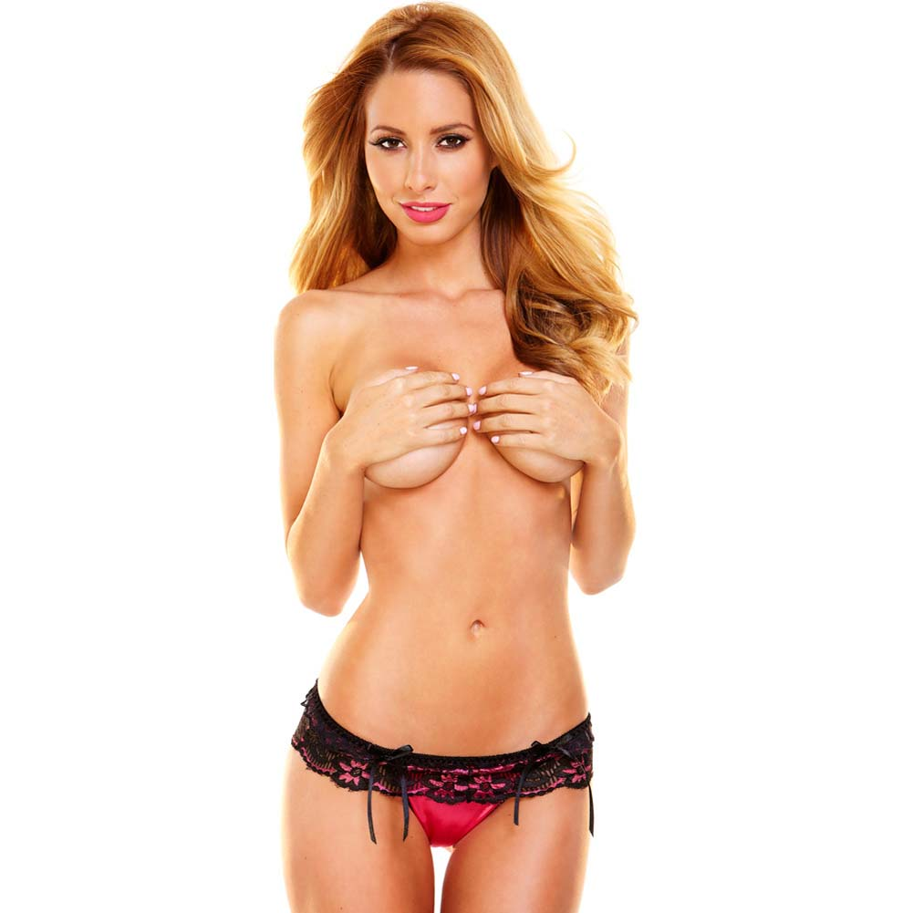 Hustler Lace G-String Medium/Large Red Black - View #3