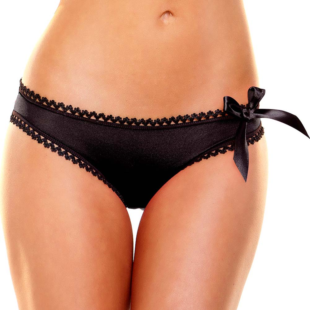 Hustler Criss Cross Panty Medium/Large Black - View #2